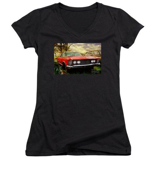 Classic Women's V-Neck T-Shirt (Junior Cut) by Liane Wright