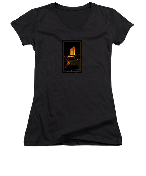 Classic Reflections Women's V-Neck T-Shirt (Junior Cut) by Bobbee Rickard