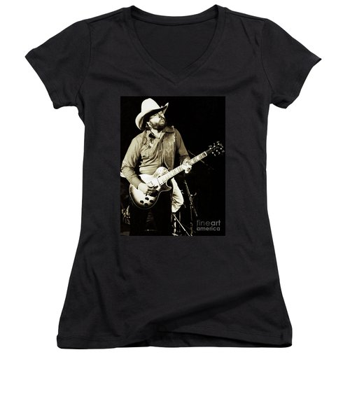 Classic Toy Caldwell Of The Marshall Tucker Band At The Cow Palace-new Years Concert  Women's V-Neck (Athletic Fit)