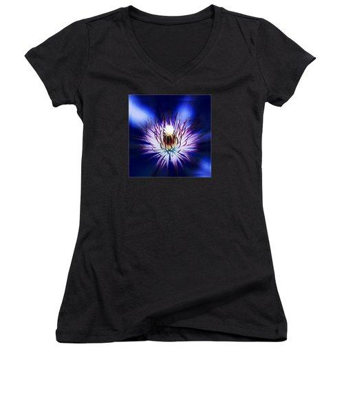 Clemantis Center Women's V-Neck T-Shirt