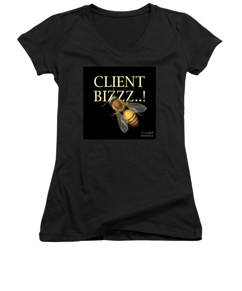 Client Buzzz Women's V-Neck