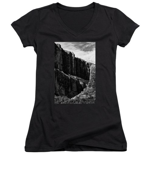 Cliffs In Contrast Women's V-Neck