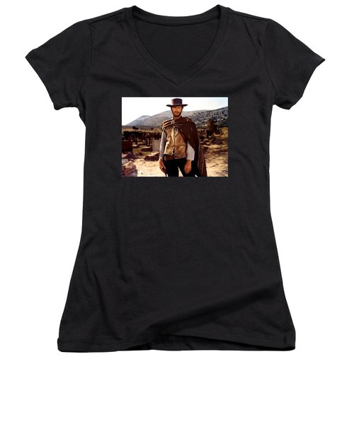 Clint Eastwood Outlaw Women's V-Neck (Athletic Fit)
