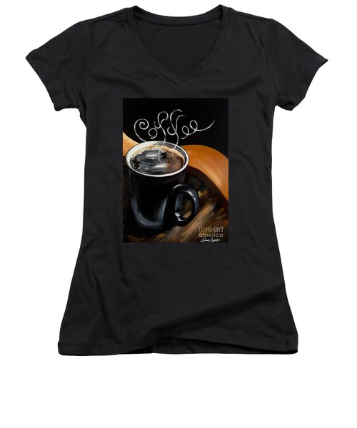 Coffee Break Women's V-Neck (Athletic Fit)