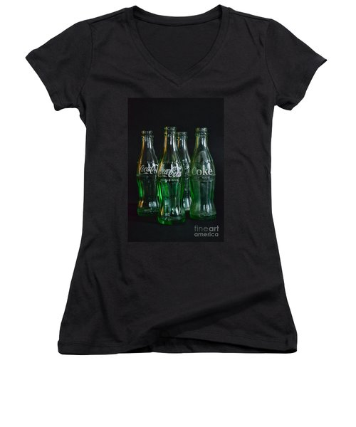 Coke Bottles From The 1950s Women's V-Neck T-Shirt