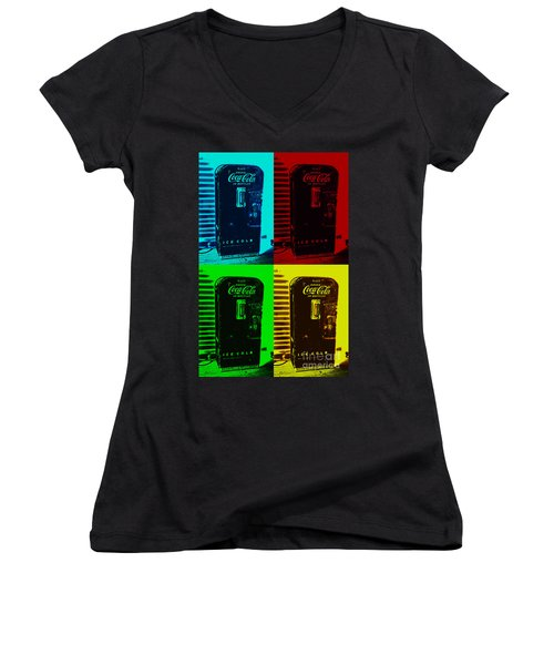 Coke Poster Women's V-Neck T-Shirt