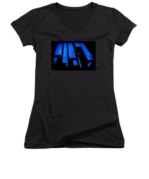 Cold Blue Steel Women's V-Neck T-Shirt (Junior Cut)