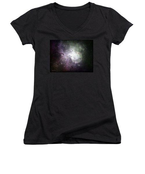 Collision Women's V-Neck T-Shirt (Junior Cut) by Cynthia Lassiter