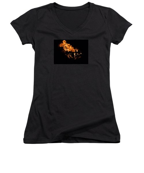 Fire Cresset Two Women's V-Neck (Athletic Fit)
