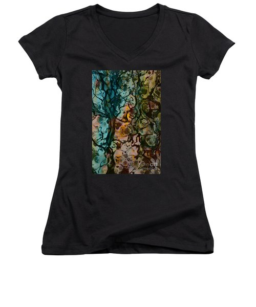 Color Abstraction Xvi Women's V-Neck