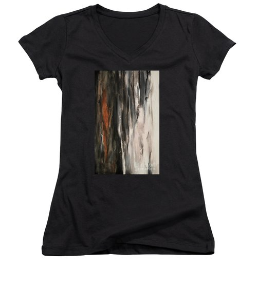 Color Harmony 19 Women's V-Neck T-Shirt (Junior Cut) by Emerico Imre Toth