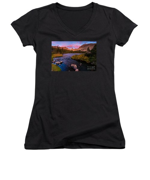 Color Over  Indian Peaks Women's V-Neck (Athletic Fit)