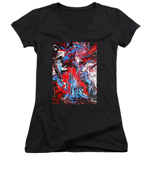 Colorful Chaos Women's V-Neck (Athletic Fit)