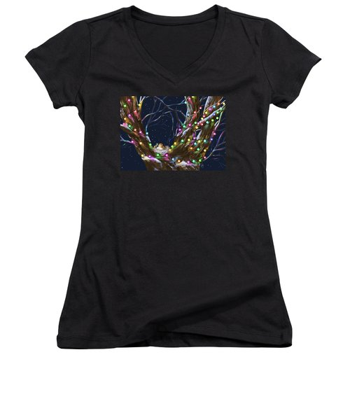 Colorful Christmas Women's V-Neck (Athletic Fit)
