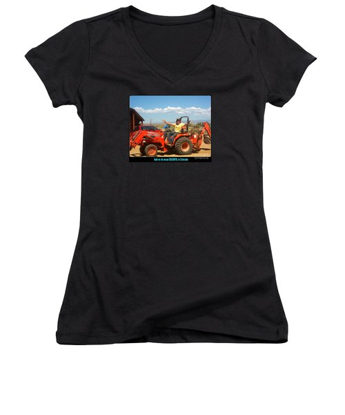 Colorful In Colorado Women's V-Neck T-Shirt (Junior Cut) by Kelly Awad