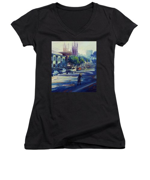 Columbus Street Women's V-Neck T-Shirt