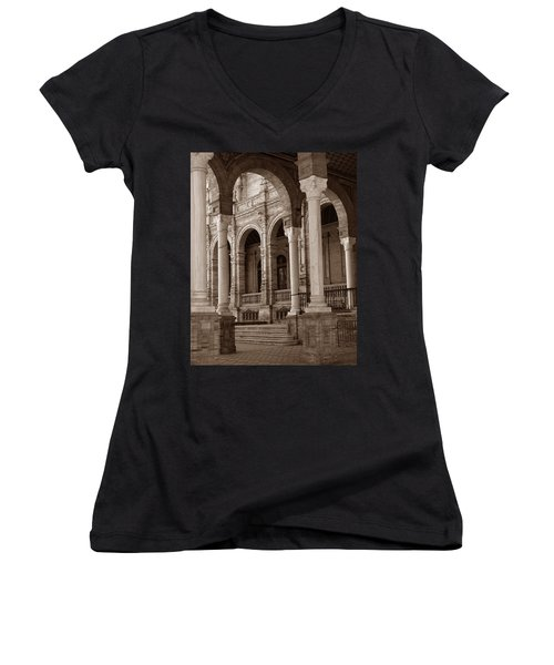 Columns And Arches Women's V-Neck