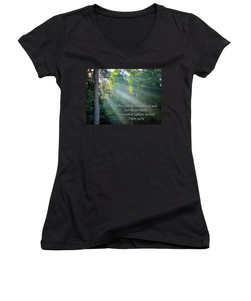 Comfort Women's V-Neck T-Shirt (Junior Cut) by Greg Simmons