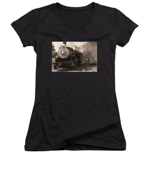 Coming Around The Mountain Women's V-Neck T-Shirt