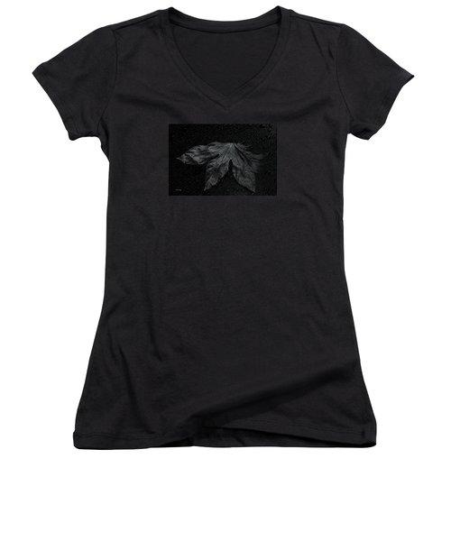 Coming Forward Women's V-Neck T-Shirt (Junior Cut) by Randi Grace Nilsberg