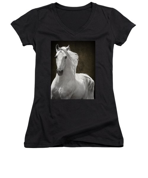 Coming Your Way Women's V-Neck T-Shirt (Junior Cut) by Wes and Dotty Weber
