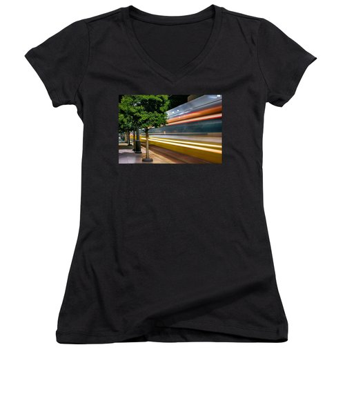 Dallas Commuter Train 052214 Women's V-Neck