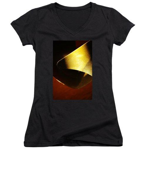 Composition In Gold Women's V-Neck T-Shirt