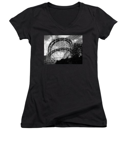 Coney Island Roller Coaster Women's V-Neck