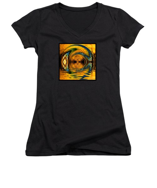 Confusion Of Distortion  Women's V-Neck T-Shirt (Junior Cut) by Elizabeth McTaggart