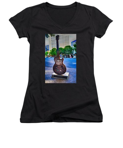 Congress Avenue Sixth String Women's V-Neck (Athletic Fit)