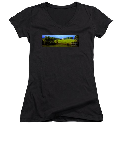 Conley Road Farm Spring Time Women's V-Neck (Athletic Fit)
