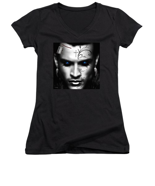 Conquistador Balck Women's V-Neck T-Shirt