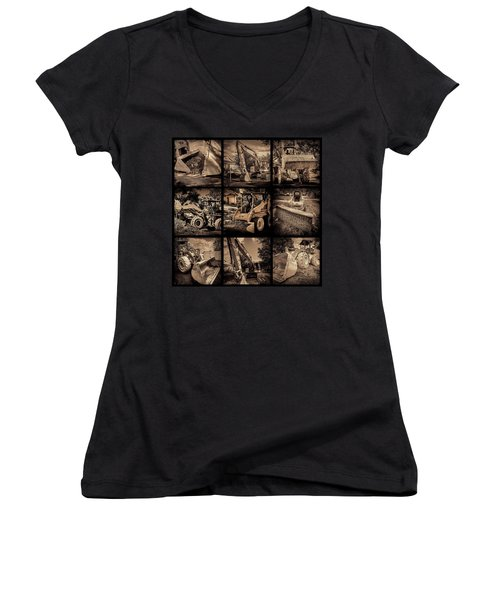 Construction Collage-1 Women's V-Neck