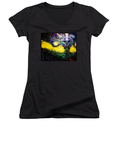 Contemplating The Majestic   Women's V-Neck T-Shirt (Junior Cut) by Tony Koehl