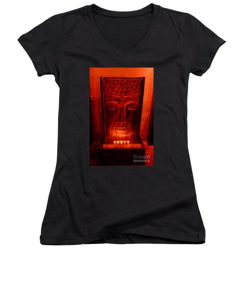 Contemplation Women's V-Neck T-Shirt (Junior Cut) by Linda Prewer