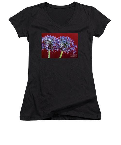 Flowering Onions Women's V-Neck (Athletic Fit)