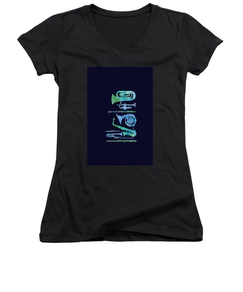Cool Blue Band Women's V-Neck (Athletic Fit)