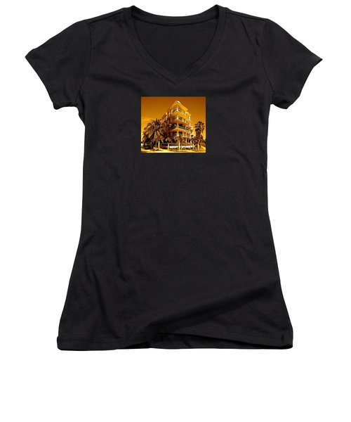 Cool Iron Building In Miami Women's V-Neck (Athletic Fit)
