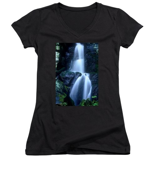 Women's V-Neck T-Shirt (Junior Cut) featuring the photograph Cool Sanctuary by Rodney Lee Williams