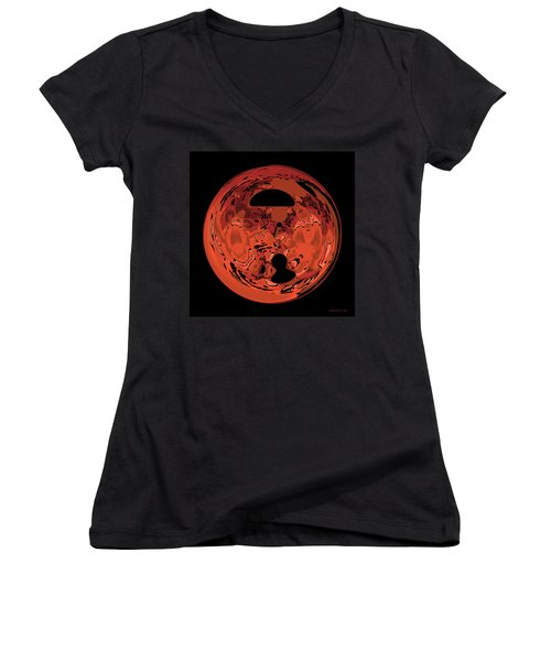Copper Disk Abstract Women's V-Neck