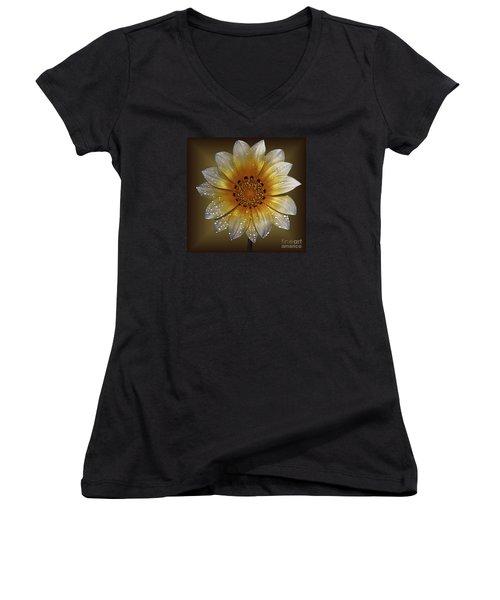 Cornsilk Women's V-Neck T-Shirt (Junior Cut) by Shirley Mangini