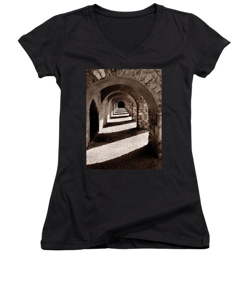 Corridors Of Stone Women's V-Neck (Athletic Fit)