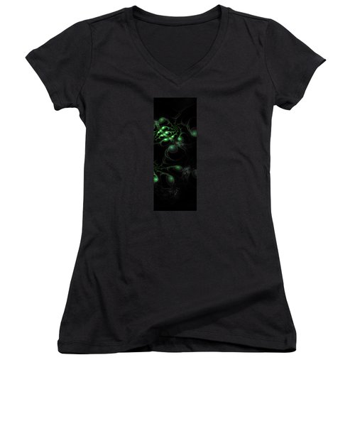 Cosmic Alien Eyes Original 2 Women's V-Neck T-Shirt (Junior Cut) by Shawn Dall
