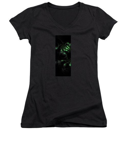 Cosmic Alien Eyes Original Women's V-Neck (Athletic Fit)