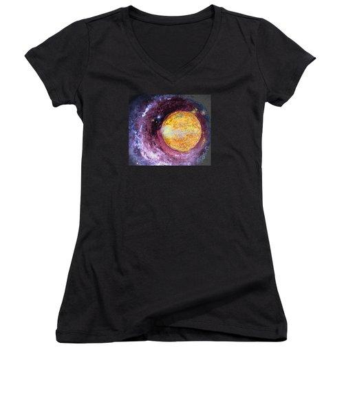 Cosmic Women's V-Neck T-Shirt (Junior Cut) by Kathy Bassett