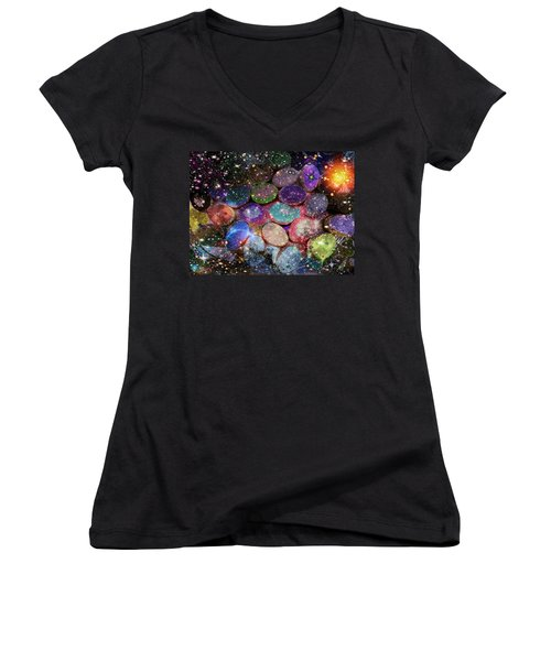 Cosmic Ovule Women's V-Neck (Athletic Fit)