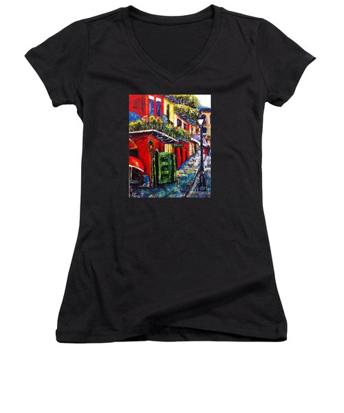 Couple In Pirate's Alley Women's V-Neck (Athletic Fit)