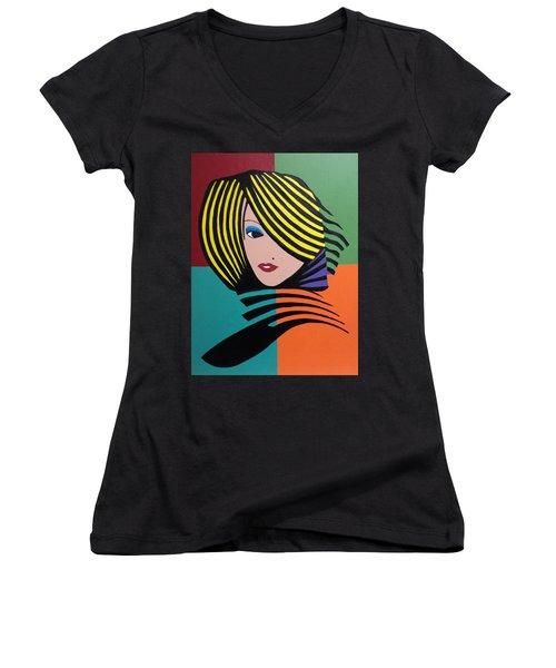 Cover Girl Women's V-Neck T-Shirt