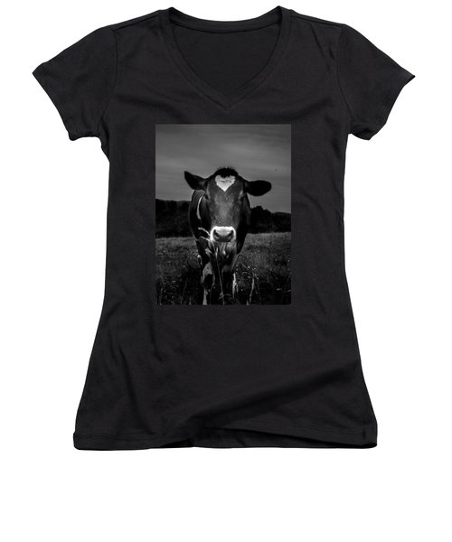 Cow Women's V-Neck (Athletic Fit)