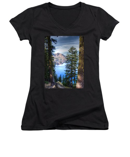 Crater Lake 1 Women's V-Neck T-Shirt